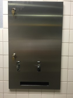Feminine Hygiene Dispenser Locks