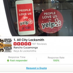 We are The most highly rated locksmith company on Yelp