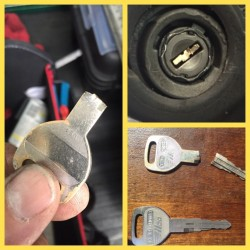 Broken Key Extracted from a 1992 Honda Civic