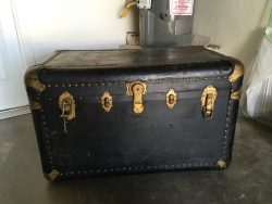 Antique Treasure Chest Trunk Lock Picked Open